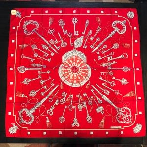 *NEW WITH TAG* Hermes Les Cles Silk Scarf